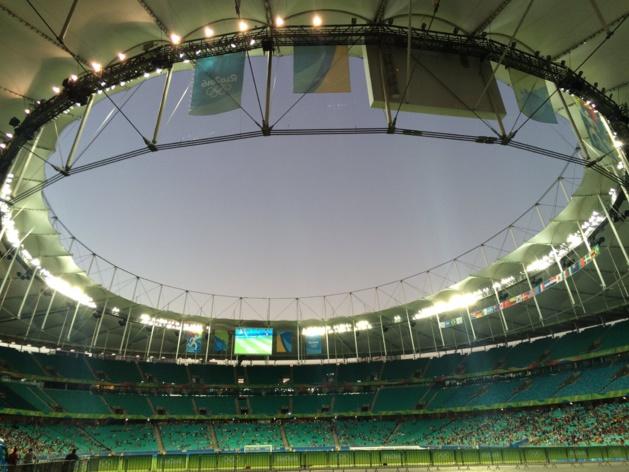 Le stade de Salvador (image Twitter Fabien Lévêque)