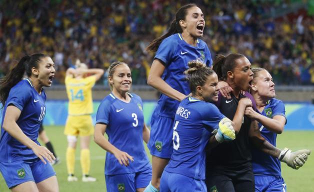 Barbara a évité l'élimination de son équipe (photo FIFA.com)