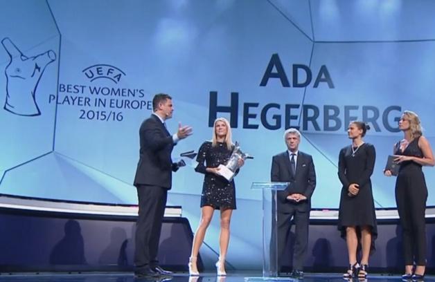 Meilleure joueuse UEFA - Ada HEGERBERG remporte le trophée