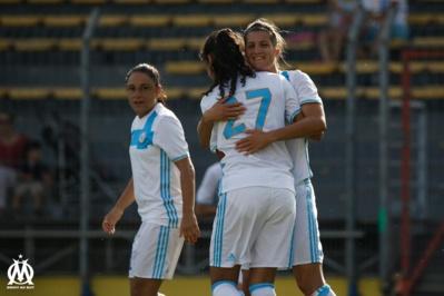 Brétigny, à gauche, Pizzala à droite, deux joueuses internationales aguerries à la D1 (photo OM.net)