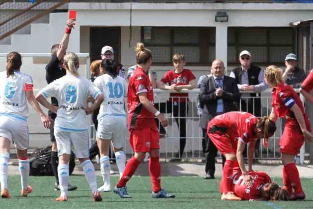 Brétigny avait été exclue pour une faute grossière (photo : .dijon-sportnews.fr)