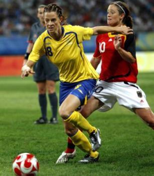 Schelin lors du quart de finale des JO 2008