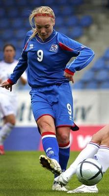 Margret Lara Vidarsdottir, meilleure buteuse du groupe