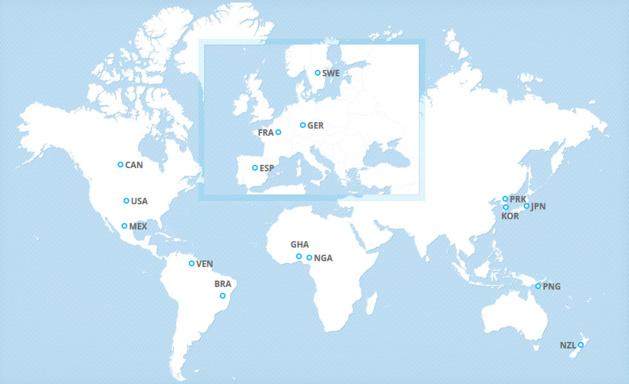 Les 16 qualifiés (source FIFA.com)