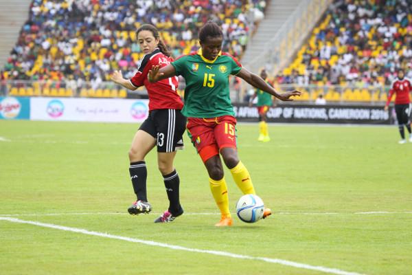 Sonkeng et la défense camerounaise ont passé un après-midi tranquille (photo CAF)