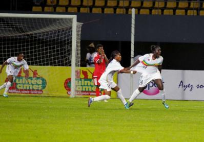 La joie de Sebe Coulibaly, à droite (photo CAF)