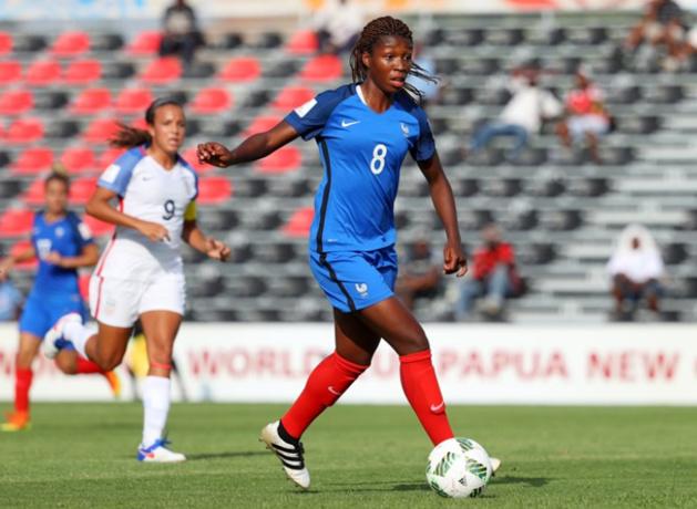 Geyoro, pièce maîtresse du milieu de terrain, aura du travail face à l'Allemagne (photo FIFA.com)