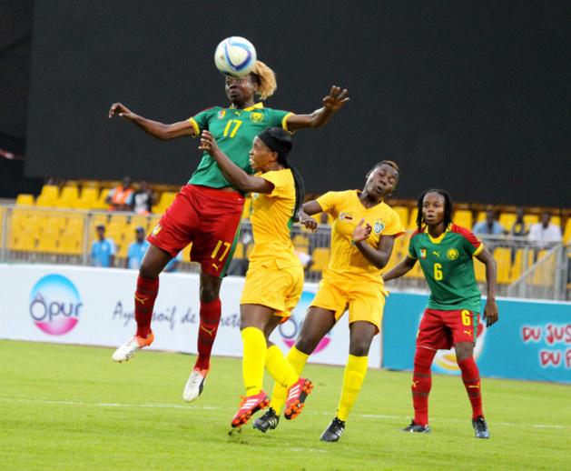 Enganamouit est l'une des rares camerounaises à ne pas avoir fait partie du turn-over pour ce troisième match de groupe (photo CAF)