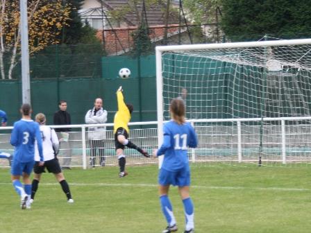 Provost avait ouvert le score pour Juvisy (photo : Marc Giachello)