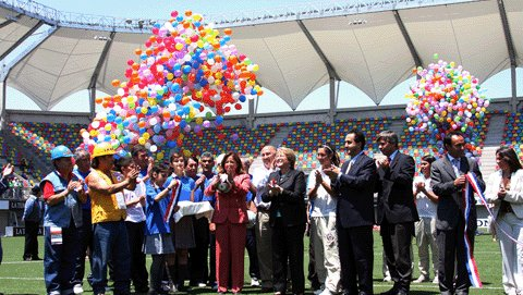 Le stade de La Florida a été inaugurée à l'occasion de ce match amical