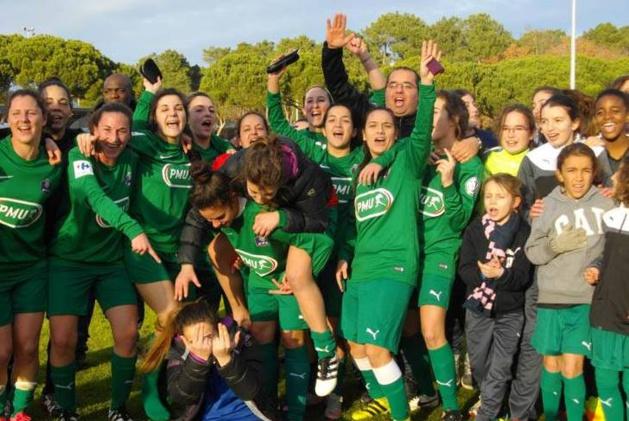 Les Arlacoises fêtent leur qualification (photo Ligue Nouvelle-Aquitaine)