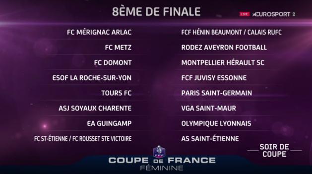 F minines nouveau d placement pour le psg en huiti mes - Tirage au sort coupe de france 8eme de finale ...