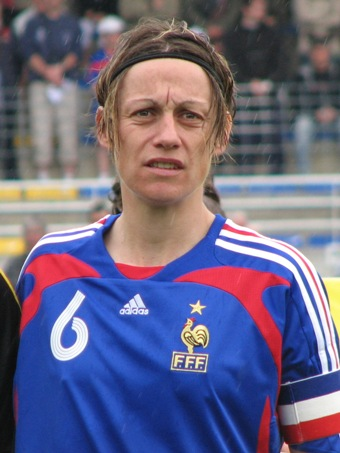 Sandrine Soubeyrand, la capitaine des Bleues (photo : S. Duret)