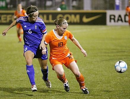 Soubeyrand lors du dernier Pays-Bas - France (vrouwenvoetbalnederland)