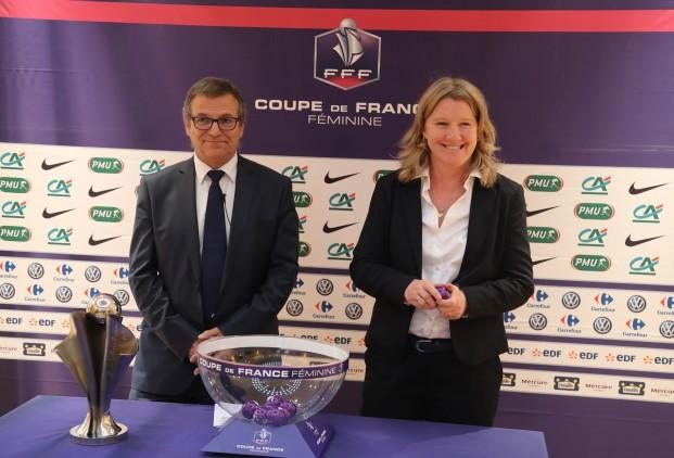 Philippe Bourgeois et Brigitte Henriques (photo FFF)