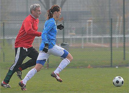 Alain Caveglia et Lotta Schelin (photo : Van Gol)