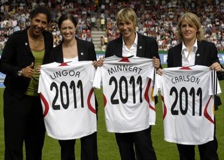 Trois des quatre ambassadrices allemandes