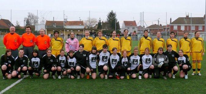 Les équipes de Templemars et Compiègne (photo : Alain Morel)