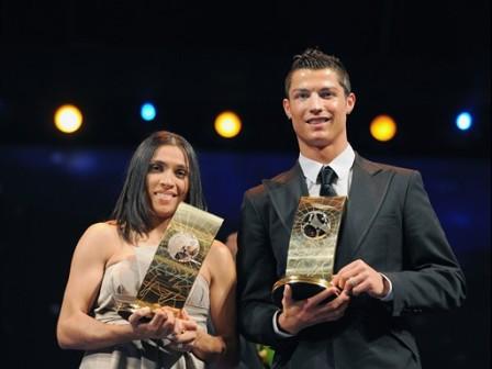 Marta et Cristiano Ronaldo (fifa.com)