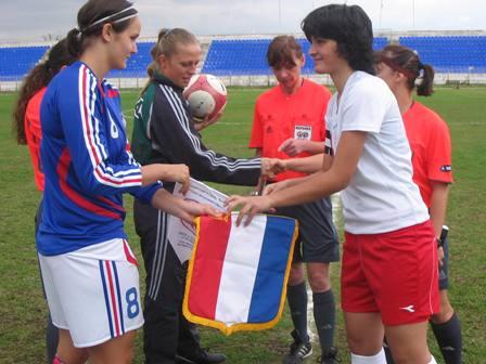 Audrey Février lors du 1er tour de l'Euro 19 ans (photo : DR)