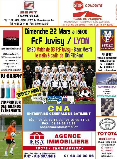 L'affiche de Juvisy - Lyon