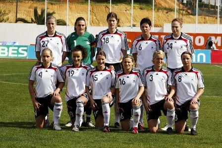 L'Allemagne lors de l'Algarve Cup (photo : Nora Kruse)