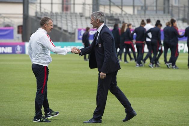 Patrice Lair et Gérard Prêcheur avant la rencontre (photo PSG.fr)