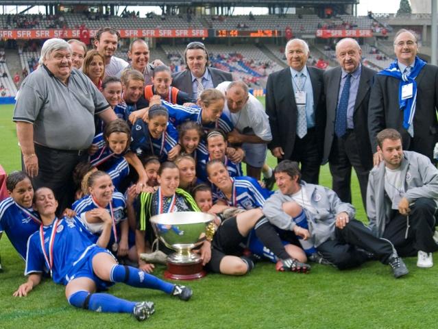 Tout le club du Montpellier HSC à la fête