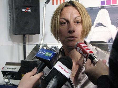Sandrine Soubeyrand aux micros de Europe 1, L'Equipe TV et RTL
