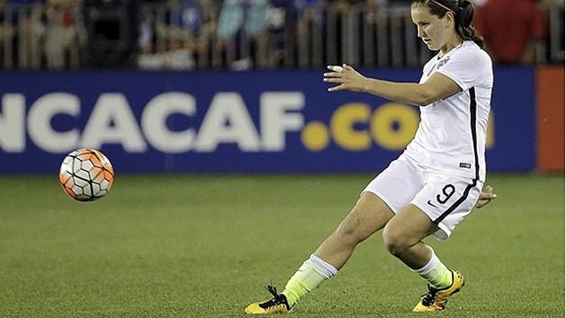 Lindsey Horan lors d'Etats-Unis - Suède en quart de finale des JO avait été la première à bénéficier du quatrième remplacement (photo DR)