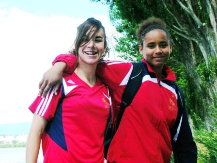 Charlotte Fernandes et Cindy Thomas