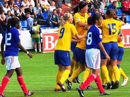 Les Suédoises assomment les Bleuettes (photo : uefa.com)