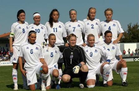 L'équipe islandaise en septembre dernier à La Roche sur Yon (photo : Sébastien Duret)
