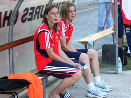 Bérangère Sapowicz et Sandrine Dusang ne sont pas à l'Euro (photo : Sébastien Duret)