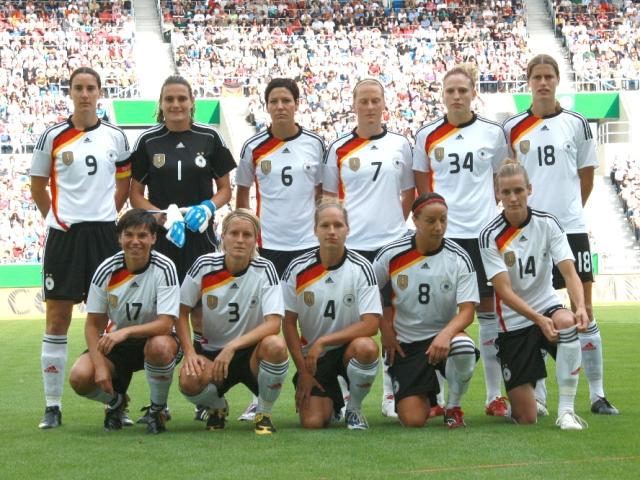 L'Allemagne de Birgit Prinz, favorite (photo : Roland Baumann/fansoccer.de)