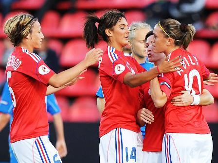 La joie tricolore lors de l'égalisation (photo : uefa.com)