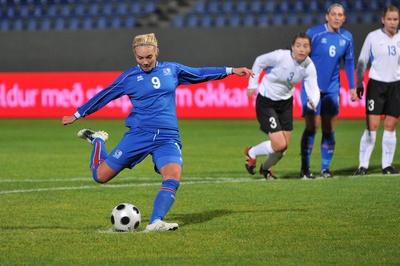 Margret Lara Larusdottir réussit un triplé (photo : KSI)