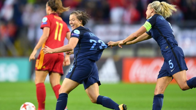 Kirby a marqué après 93 secondes (photo UEFA.com)