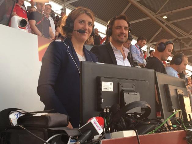 Marinette Pichon et Fabien Levêque étaient aux commentaires sur France TV