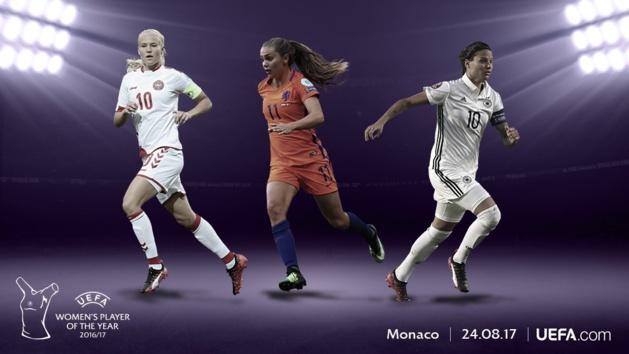 UEFA - Joueuse de l'année 2016-2017 : Harder, Marozsán et Martens nommées