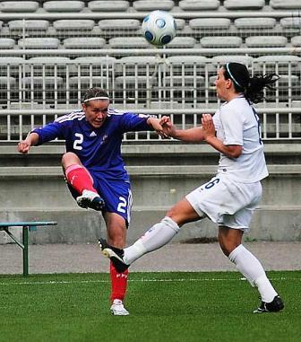 Sandrine Dusang de retour en Bleues (photo : Van Gol)