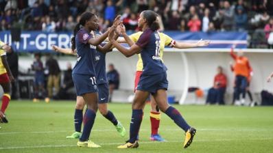 Delie marque l'unique but du PSG (photo PSG.fr)