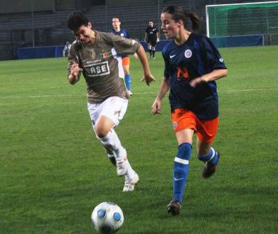 Mélissa Plaza en Ligue des Champions face à Liège (photo : Patricia Glorion)