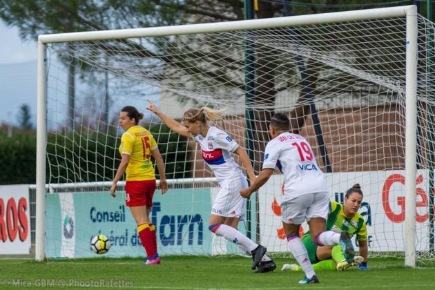 Hegerberg a marqué une fois ce week-end (photo Mica GB M/Phootorafettes)