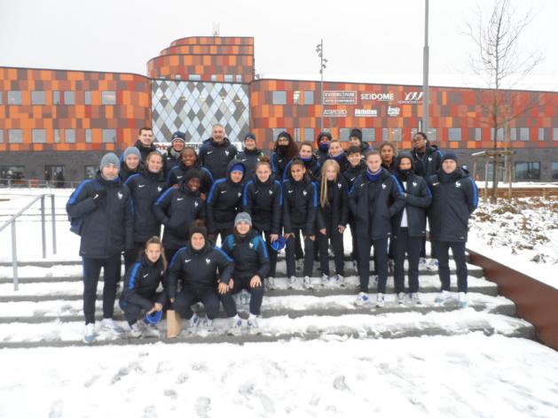 Les Tricolores sous la neige suédoise (photo JYF)