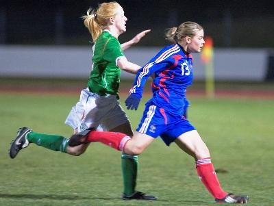 Eugénie Le Sommer a connu sa 1re sélection face à l'Irlande (photo : Eric Baledent)