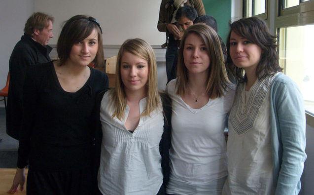 Les quatre jeunes filles à l'origine de la conférence, Marine Ballias, Marlene Bajas, Charlotte Lavet et Oriane Simond...