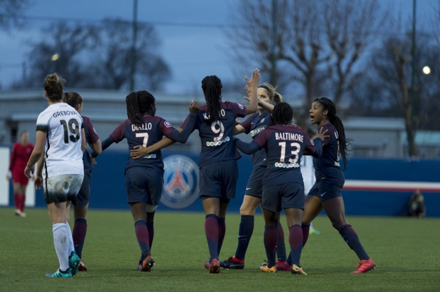 Katoto a donné le tournis à la défense du Paris FC (photo PSG.fr)