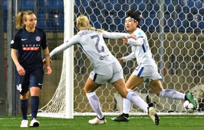 Ji So Yun a marqué en premier (photo UEFA)