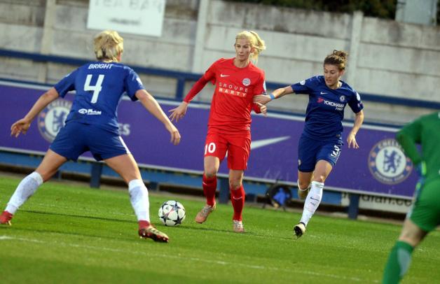 Jakobsson a marqué face à son ancien club mais n'a pas pu faire plus (photo Chelsea LFC)